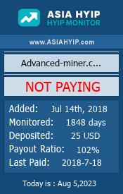 ссылка на мониторинг http://www.asiahyip.com/details/184/